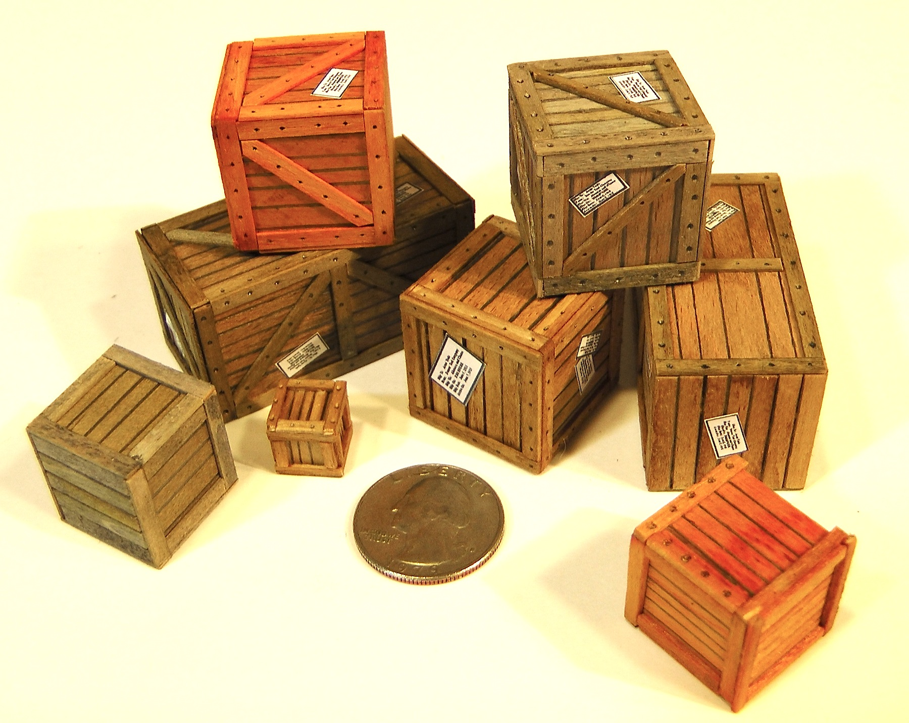 and - Wooden Shipping Crates