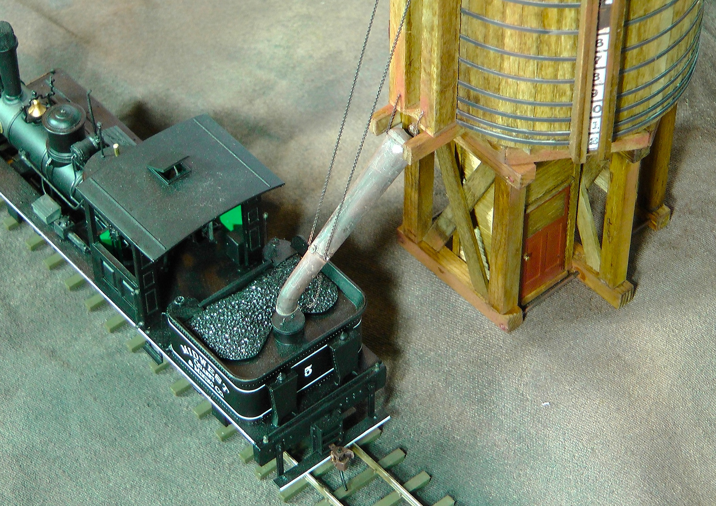 Three o scale water towers the denver durango silverton railroad the shay locomotive was a geared engine that did not have a tender the water tank and coal bin were a part of the rear of the engine freerunsca Choice Image