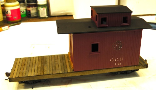 Here is the beginning of the actual work on the caboose.