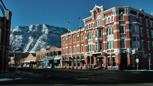 The town of Durango was much bigger than I expected, but most of the photos I've been viewing for research date back to the early 20th century.  The Hotel Strater, pictured here, is one of the more venerable establishments that dates back to the very first days of the town.