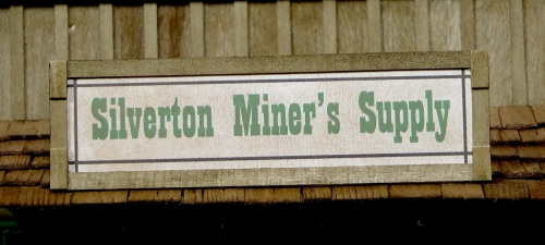 The name of the store was also created on my computer, and framed in stained basswood scale 1X6.