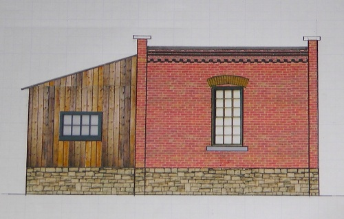 Here is the view from the back end.  MM&LW makes a really nice decorative brick cornice