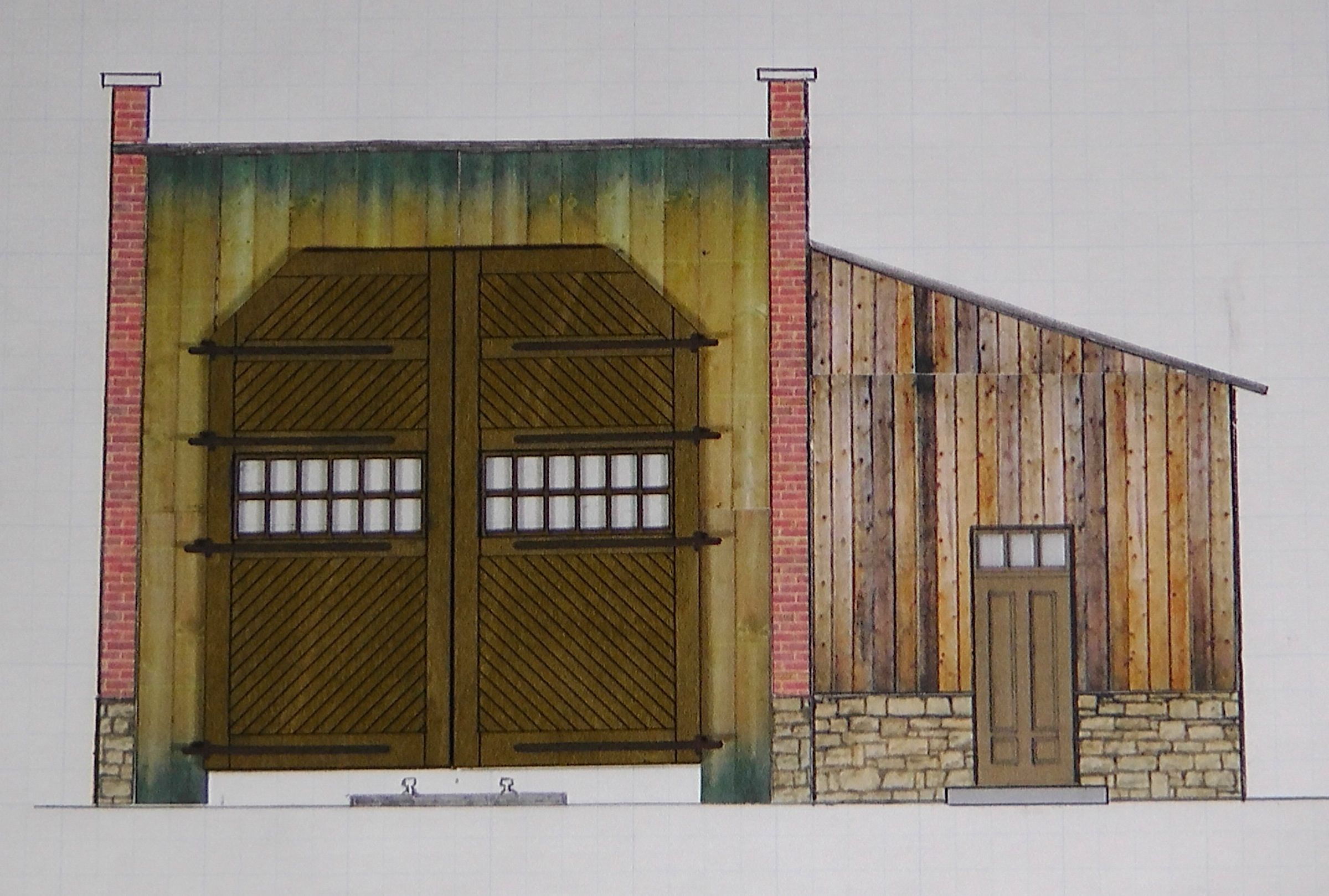 Plans for the Durango Engine House | The Denver, Durango ... on railroad depot house plans, draw my own house plans, railroad section house plans, railroad car house plans, railroad steam engine side rods,