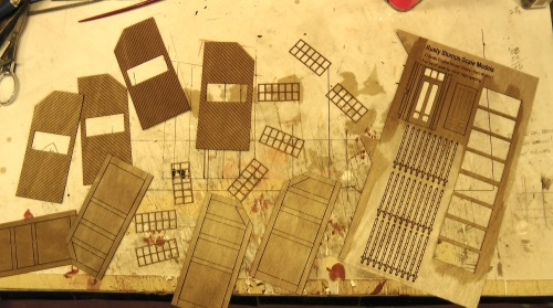 This is the set of laser cut parts from Rusty Rail Rick that I used to make the front door as shown on my plans.