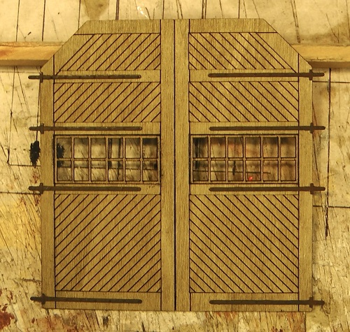It makes up into a beautifully detailed engine house door.