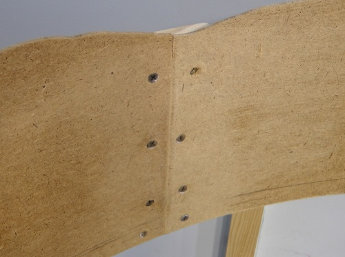 All the masonite joints were reinforced with with either 1x3 or 1/4 inch plywood on the back sides.