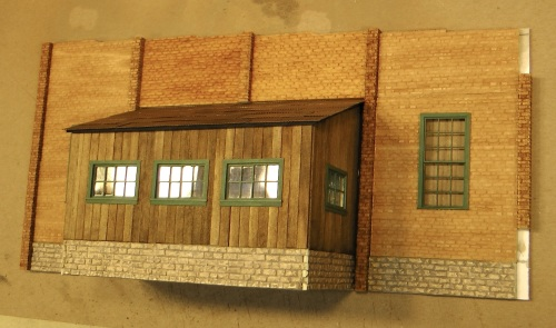 That same wall from another angle.  I ran out of column material and had to order more.
