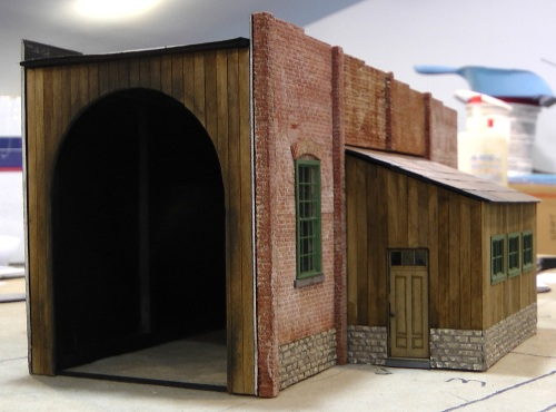 Front view without the doors.  There is still some work to do on the corners of the walls.