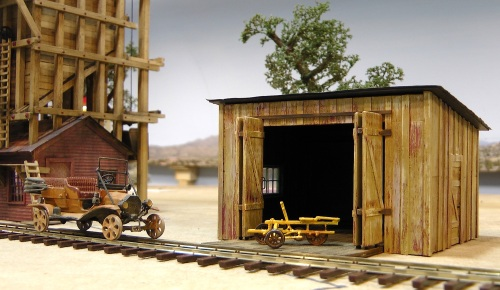 I'm pleased with the way my shed turned out, and it only takes up about 3.5 by 4.5 inches of real estate on my layout.