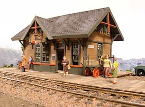 As I have had to do all over my model railroad, I will have to use selective compression on this structure