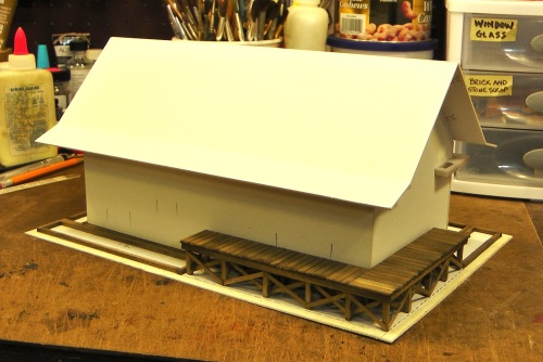 The roof will also have matte board under the shingles.
