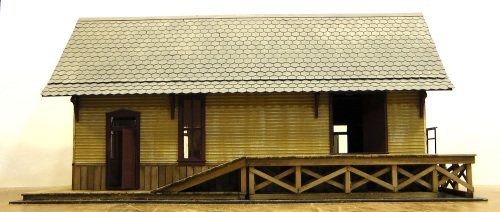 The roof will get weathering and chimneys added.