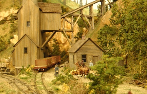 Since Paul's layout is in a western setting, and models narrow gauge railroading in a time period close to mine, his work has been a tremendous inspiration to me for quite some time.