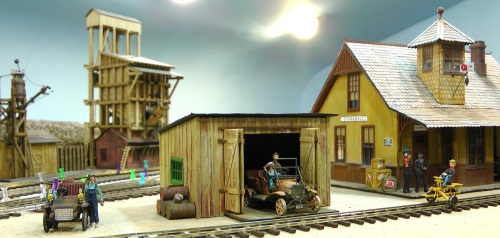 The Maintenance of Way shed got moved to make room for the Icing Dock.  See previous track plans.