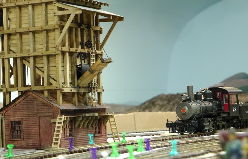 #28 approaches the Coaling Tower.