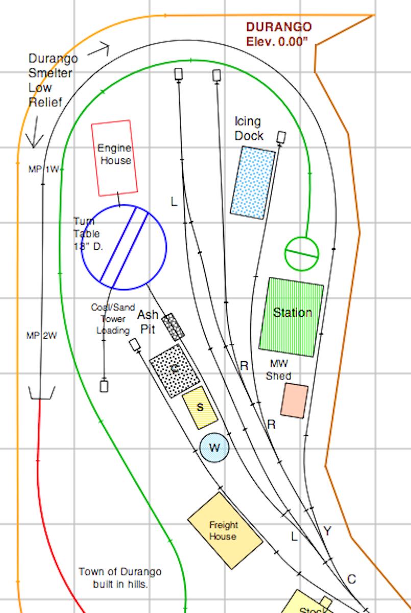 Lay Mor Wiring Diagram Free Download Track Plan Durango Yard Work The Denver Silverton Railroad Three Wheel