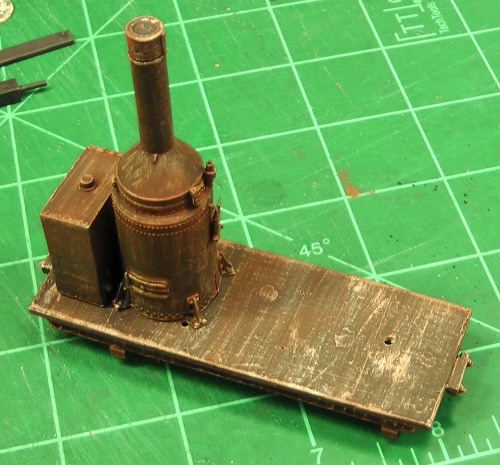 To tone down the rust, I gave the model a light spraying with Testor's Dullcote.