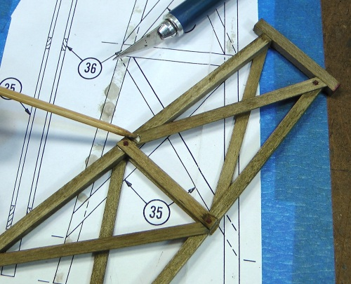 One tool that I find very useful in building wood kits is a simple bamboo shish-kabob stick