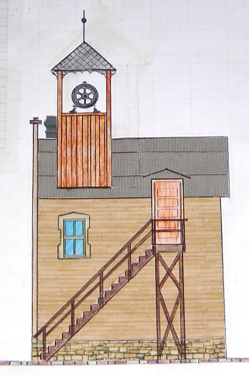 Here is a side view.  As I have done with some other buildings in Durango, I have shortened the structure front to back.