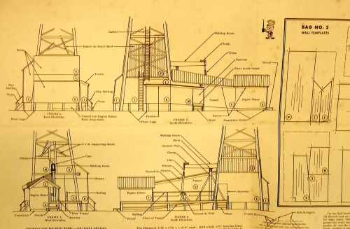 The front and back side of a single sheet has good drawings from all sides, and templates for some of the assemblies.