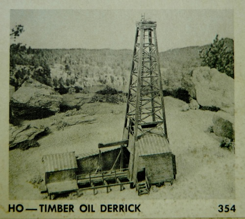 This is the photo on the cover of the box for the HO scale Timber Oil Derrick by Campbell Scale Models.