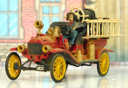 I have completed the 1914 Model T Ford Fire Engine that will go with my Durango Fire Hall.