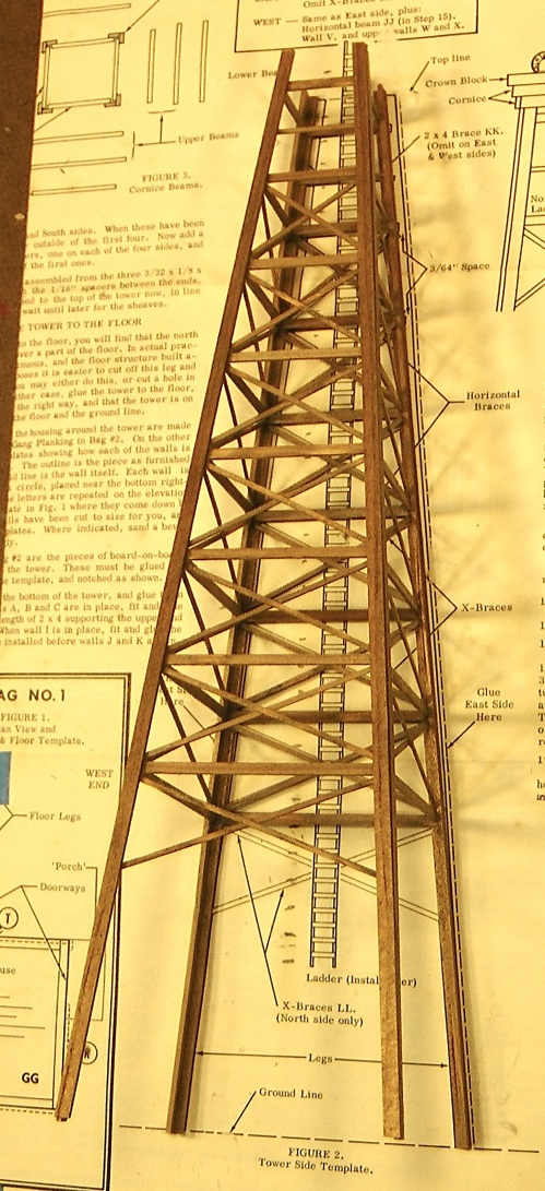 This is the completed four-sided tower.