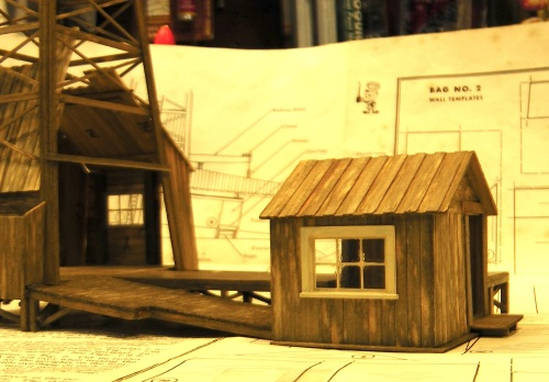 There was a good place on the other side of the model for a second O scale window.