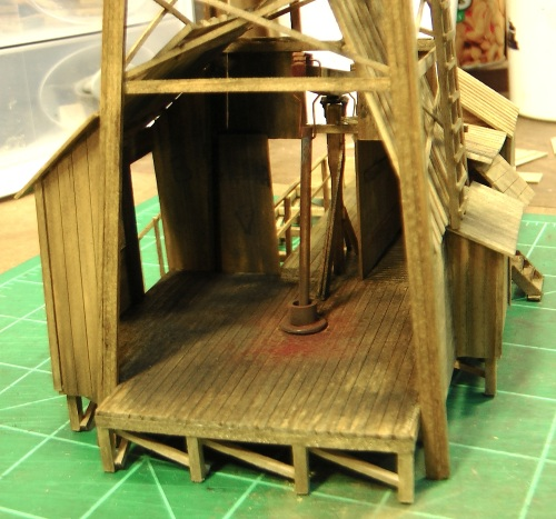 I took this photo because the interior of this area of the model would be mostly enclosed by the final wall.
