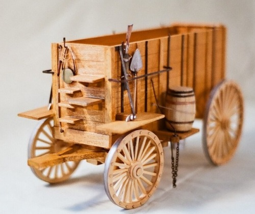 Internet research helped a little, and I ran across these two very nice photos of wooden models of ore wagons.  I'll use some of these details on my plastic models.