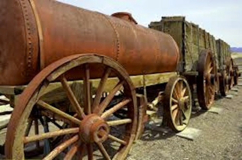 The major part that was missing from the kit was the tank for the water wagon, similar to the metal one on this photo from Google Images
