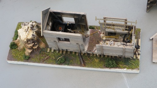 This little logging vignette has won John awards at other train shows.