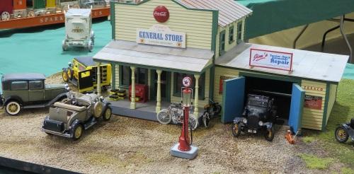 A G scale diorama.