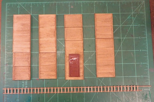I made the ladder on a jig I have for O scale ladders.  The frost box sides are ship lap siding.