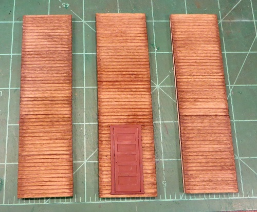 After that, another coat of stain helped blend the fake joints with the real ones.