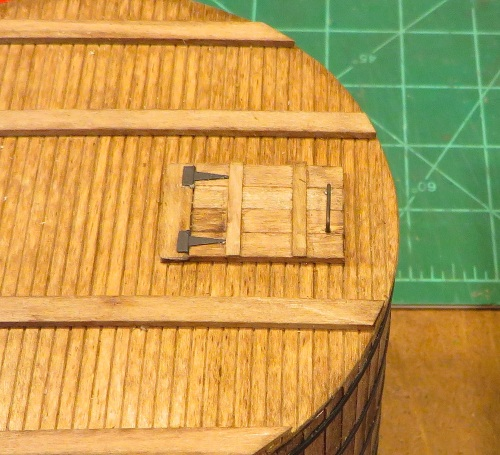 Grandt Line hinges in place on the hatch cover.