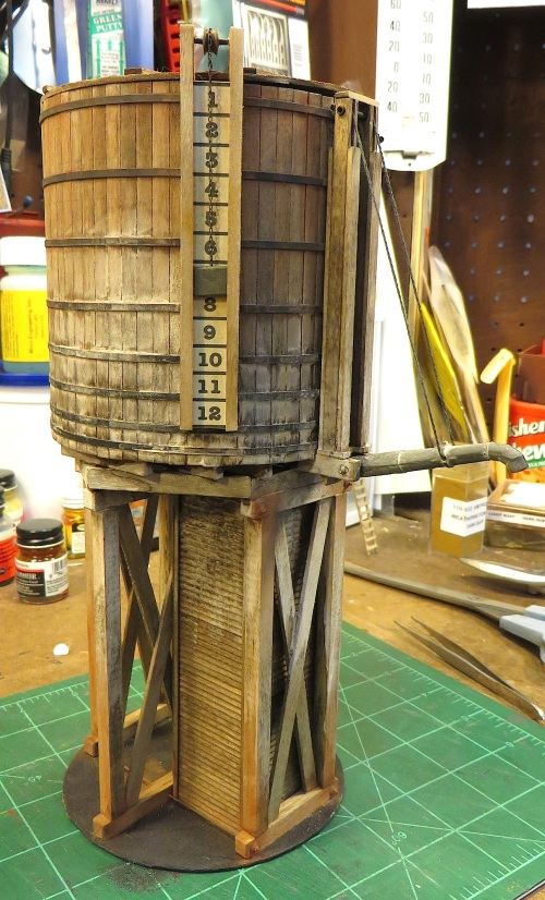About a month ago I had an inquiry from a fellow in Texas about building him an O scale water tower to go with his Lionel Challenger and Mikado.  Since these are larger locomotives than my On30 narrow gauge, I