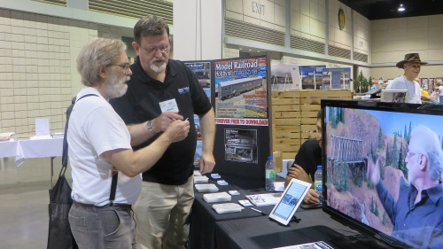 Every time you turn around you see well known people from the model railroading community.  Here's Joe Fugate of Model Railroad Hobbysit Magazine.