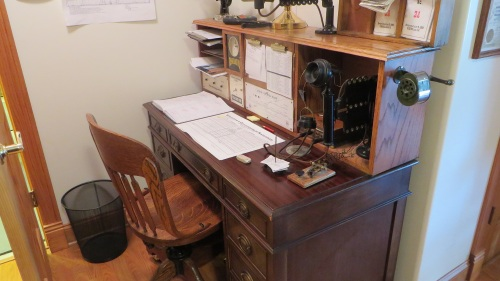 The Stockton & Copperopolis of Don Ball featured the most authentic late 19th century dispatcher's desk on display this week.