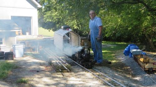 Their 7.5 inch gauge layout hosts both live steam and gasoline powered diesels.