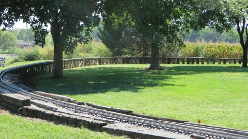 The club-size private layout of Gail Gish, called the Rio Grande Scenic Railroad