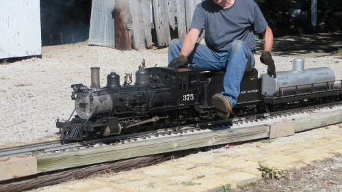 "1/8"" scale live steamers abound on this wonderful pike."