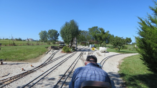 Much of this layout is four track main line, as you can see from my passenger's seat on this train.