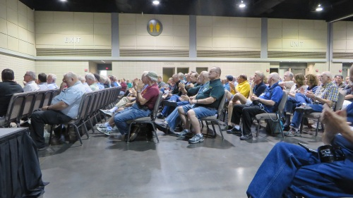 Although many modelers and vendors had left by Saturday night, the closing ceremonies wwere well attended by a good representation of the over 1,500 who attended this year's convention.