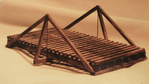 This is the color postcard-sized picture that comes with the Hunterline King Post Truss Bridge kit.