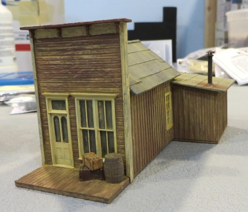 This HO scale kit by Wolf Designs is called the Iron Horse Press building