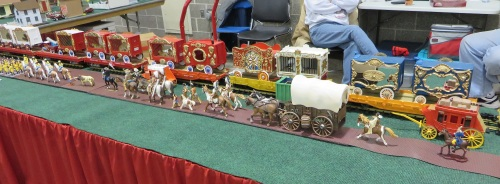The G-scale circus train is always an eye-catcher.