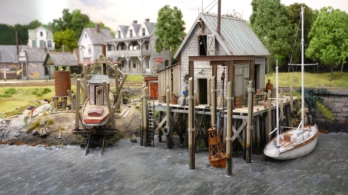 Despite living in Europe, he has captured the feel of the Maine seacoast in the 1930's to perfection. An additional attraction for me is that Troels models in the same scale that I do, On30.
