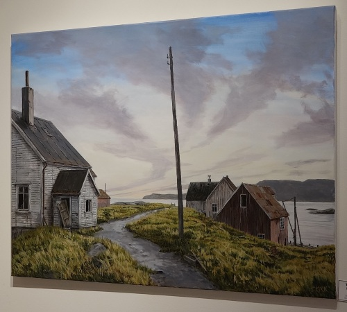 His works are Scandinavian scenes, but the connection with his American-based railroad is unmistakable. Incredible though it may seem, Troels says that he gets up at 4:30 in the morning, and paints until around 9:30 at night.