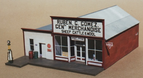 Grandt Line makes a nifty model of the Gomez store that exists in Pagosa Jct., Colorado.